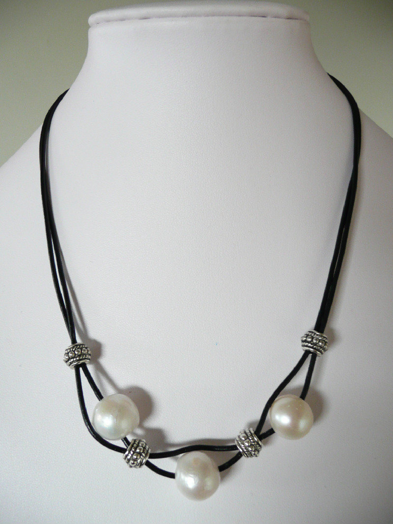 pearl necklaces leather range pearl